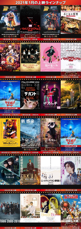2021年1月ラインナップ/『羅小黒戦記』中国語版/バック・トゥ3部作連続上映ほか